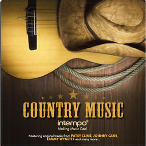 "Intempo Country Music LP Vinyl Record, Remasterd, 12"", Feat. Patsy Cline, Johnny Cash & More"