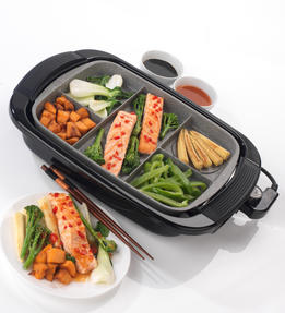 Salter Multi Portion 5 in 1 Grill with Marble Effect Non-Stick Coating, 1500 W Thumbnail 6