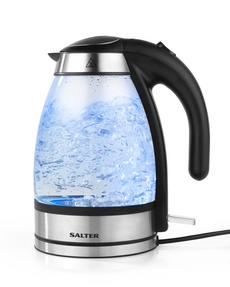 Salter Clarity Glass Kettle, 1.7 Litre, 2200 W