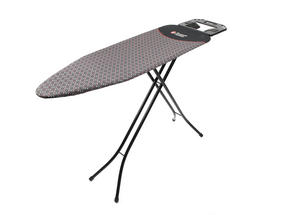 Russell Hobbs LA043153BLK Ironing Board with Jumbo Iron Rest, 122 x 38 cm, Black Thumbnail 1