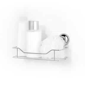 Beldray Suction Shower Basket & Suction Towel Ring, Chrome, Silver Thumbnail 4