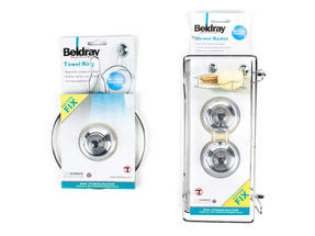 Beldray Suction Shower Basket & Suction Towel Ring, Chrome, Silver Thumbnail 6