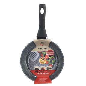 Salter BW05745S Megastone Collection Non-Stick Forged Aluminium Frying Pan, 20 cm, Silver Thumbnail 5