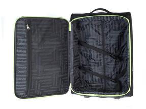 "Constellation Superlite Suitcase, 24"", Black/Green Thumbnail 5"