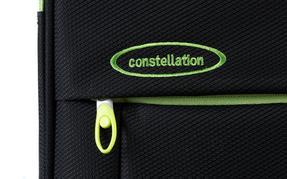 "Constellation Superlite Suitcase, 24"", Black/Green Thumbnail 6"