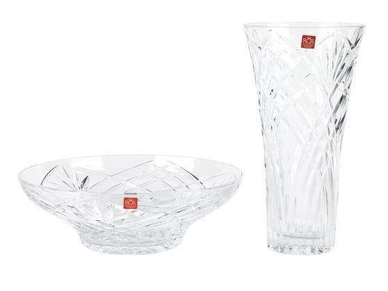 RCR Melodia Crystal Glass Centrepiece Bowl and Vase Set