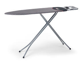Russell Hobbs LA043153SIL Ironing Board with Jumbo Iron Rest, 122 x 38 cm, Silver