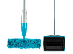 Beldray Hard Floor & Carpet Cleaning Set with Double Sided Spray Mop and Carpet Sweeper, Turquoise Thumbnail 2