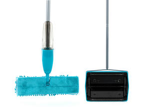 Beldray Hard Floor & Carpet Cleaning Set with Double Sided Spray Mop and Carpet Sweeper, Turquoise Thumbnail 3