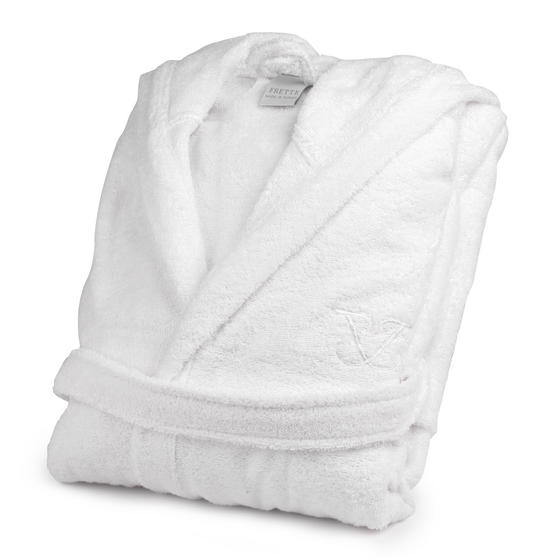 Frette 1705721 White Cotton Bath Robe ? Small/Medium