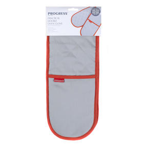 Progress MFPRO10815R Practical Double Oven Glove, Grey/Red Thumbnail 5