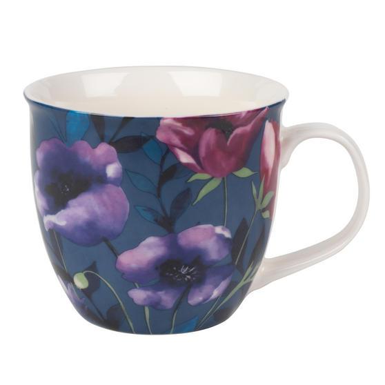 Cambridge CM05717 Oxford Teal Poppy Fine Bone China Mug
