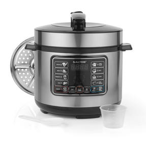 Salter Rapid Non-Stick Multi Cooker with Lid, 5 Litre, 1000 W Thumbnail 1