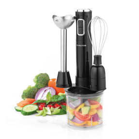 Salter 3 in 1 Handheld Blender Chopper Whisk Set, 400 W, Black Thumbnail 1