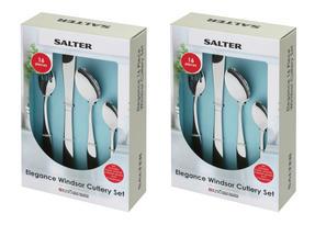 Salter BW02845 Elegance Windsor 32 Piece Cutlery Set, Stainless Steel Thumbnail 8