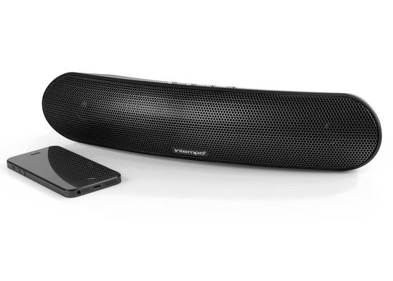 Intempo Curved Bluetooth Metallic Speaker, Black