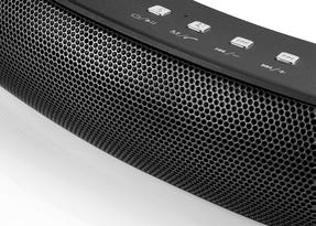 Intempo Curved Bluetooth Metallic Speaker, Black Thumbnail 3