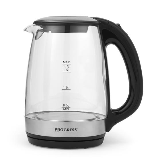 Progress EK2678 Electric Glass Kettle, 1.7 Litre, 2200 W