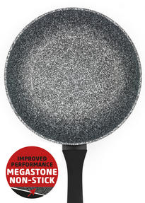 Salter BW06235S Megastone Collection Non-Stick Forged Aluminium 3 Piece Frying Pan Set, 20, 24 & 28 cm, Silver Thumbnail 5
