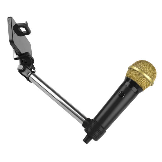 Intempo Microphone Selfie Stick, Black