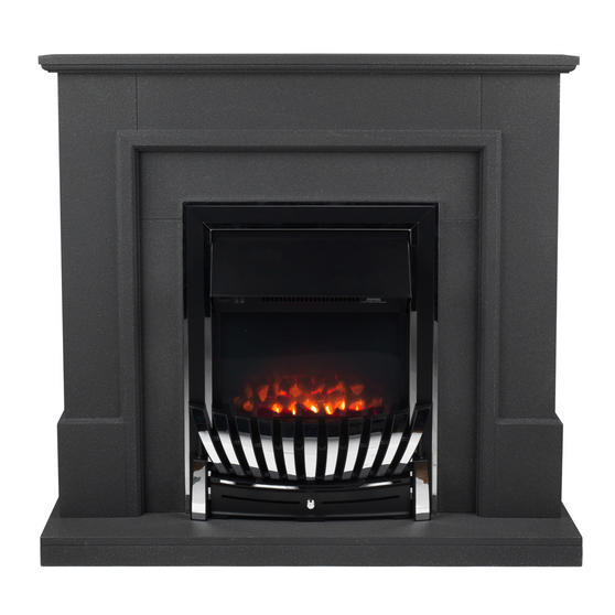 Beldray Greystone Electric Fire Suite with Coal Effect and Surround, 2000 W, Grey
