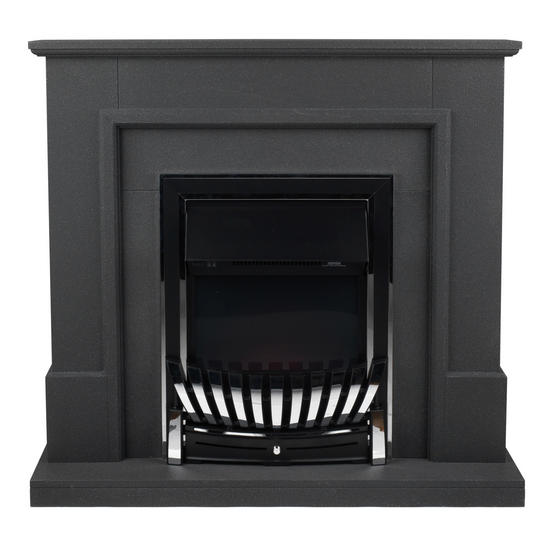 Beldray Greystone Electric Fire Suite with Coal Effect and Surround, 2000 W, Grey Thumbnail 2