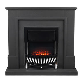 Beldray EH1965STSTK Greystone Electric Fire Suite with Coal Effect and Surround, 2000 W, Grey Thumbnail 1