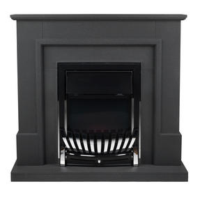 Beldray EH1965STSTK Greystone Electric Fire Suite with Coal Effect and Surround, 2000 W, Grey Thumbnail 2