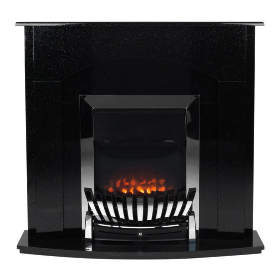 Beldray Arklow Electric Fire Suite with Coal Effect and Surround, 2000 W, Black