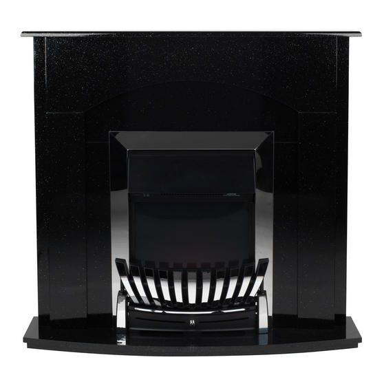 Beldray Arklow Electric Fire Suite with Coal Effect and Surround, 2000 W, Black Thumbnail 2