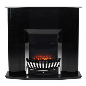 Beldray EH2704STK Arklow Electric Fire Suite with Coal Effect and Surround, 2000 W, Black