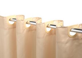 Beldray LA041777CRM Jacquard Striped Hookless Shower Curtain, 180 x 185 cm, Cream Thumbnail 2