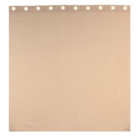 Beldray LA041777CRM Jacquard Striped Hookless Shower Curtain, 180 x 185 cm, Cream Thumbnail 4