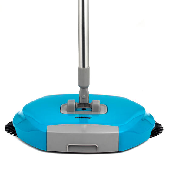 Beldray Lightweight Spinning Sweeper, 105 cm, Stainless Steel, Turquoise Thumbnail 1