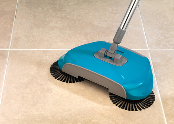 Beldray Lightweight Spinning Sweeper, 105 cm, Stainless Steel, Turquoise Thumbnail 5