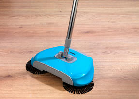 Beldray LA047151 Lightweight Spinning Sweeper, 105 cm, Stainless Steel, Turquoise Thumbnail 3