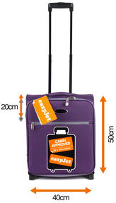 Constellation Easyjet Approved Maximum Capacity Cabin Case, Plum with Grey Trim Thumbnail 2