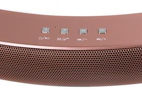Intempo EE1736RGSTK Curved Bluetooth Metallic Speaker, Rose Gold Thumbnail 5