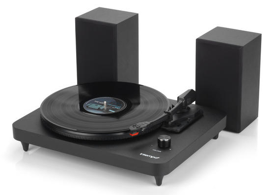 Intempo Turntable with Stereo Speakers, 6 W, Black