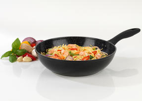 Salter Marble Collection Forged Aluminium Wok, 28 cm, Black Thumbnail 2