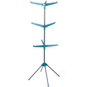 Beldray LA039552TQ 9 Arm Clothes Airer Dryer, Turquoise