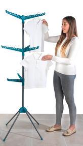 Beldray LA039552TQ 9 Arm Clothes Airer Dryer, Turquoise Thumbnail 3