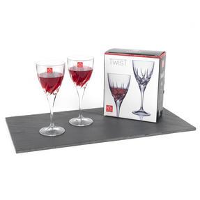 RCR 25119020006X6 Twist Crystal Wine Glasses, 330 ml, Set of 6