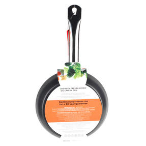 Russell Hobbs Infinity Preseasoned Carbon Steel Frying Pan, 20 cm, Black Thumbnail 8