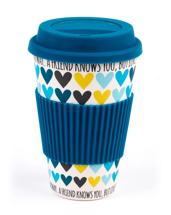 Cambridge A Friend Loves You Heart Bamboo Eco Travel Mug