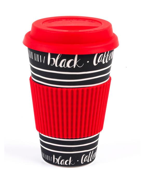 Cambridge Caffeine Is the New Black Bamboo Eco Travel Mug