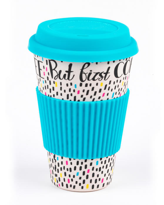 Cambridge CM05634 But First Coffee Bamboo Eco Travel Mug