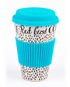 Cambridge CM05634 But First Coffee Reusable Travel Mug Thumbnail 1