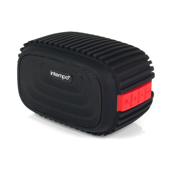 Intempo EE1272REDSTK Water Resistant Wireless Bluetooth Speaker, Red