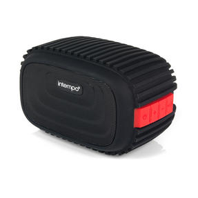 Intempo EE1272REDSTK Water Resistant Wireless Bluetooth Speaker, Red Thumbnail 1